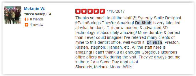 Dr Kianor Shahmohammadi Yelp Review